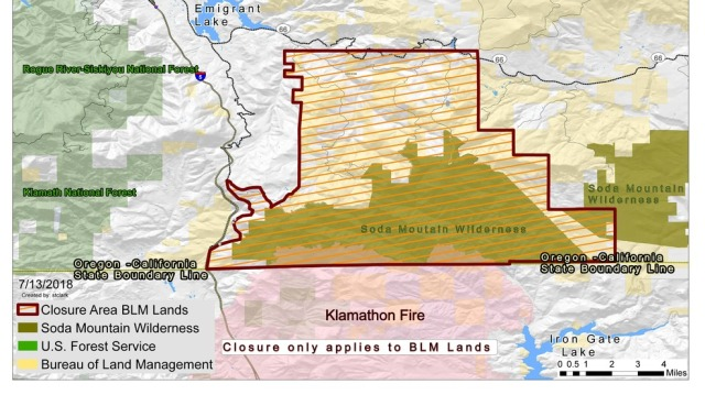 Soda Mountain Pilot Rock Closed Due To Klamathon Fire Eclips