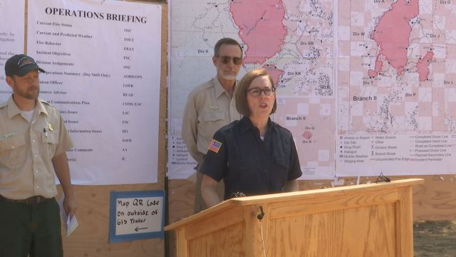 Governor Kate Brown Visits Garner Complex Fire Incident Command Eclips