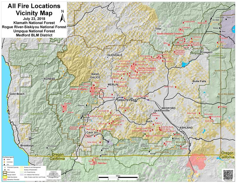 Worth A Thousand Words Or More Southern Oregon Fire Map Eclips