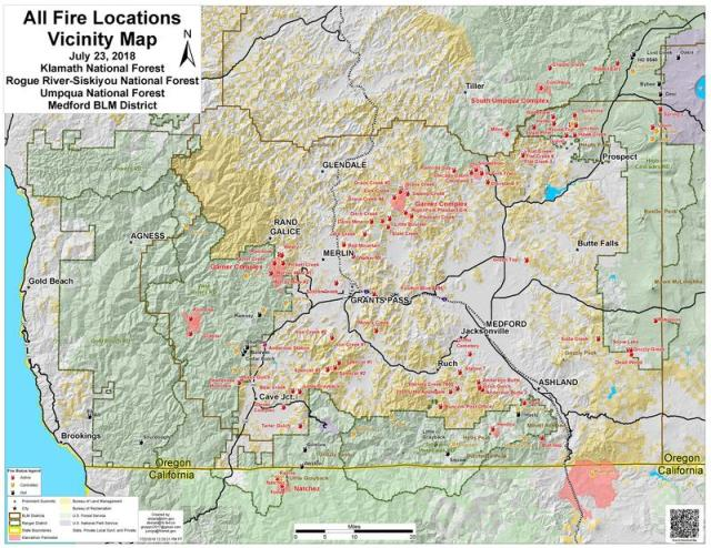 Spokane Wildfire Map.Worth A Thousand Words Or More Southern Oregon Fire Map Eclips