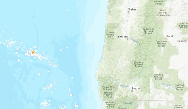 Image result for Magnitude 5.4 Earthquake Rumbles Off Oregon Coast